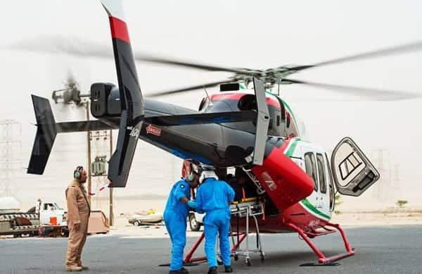 Demostración de Bell 429 con puertas plegables