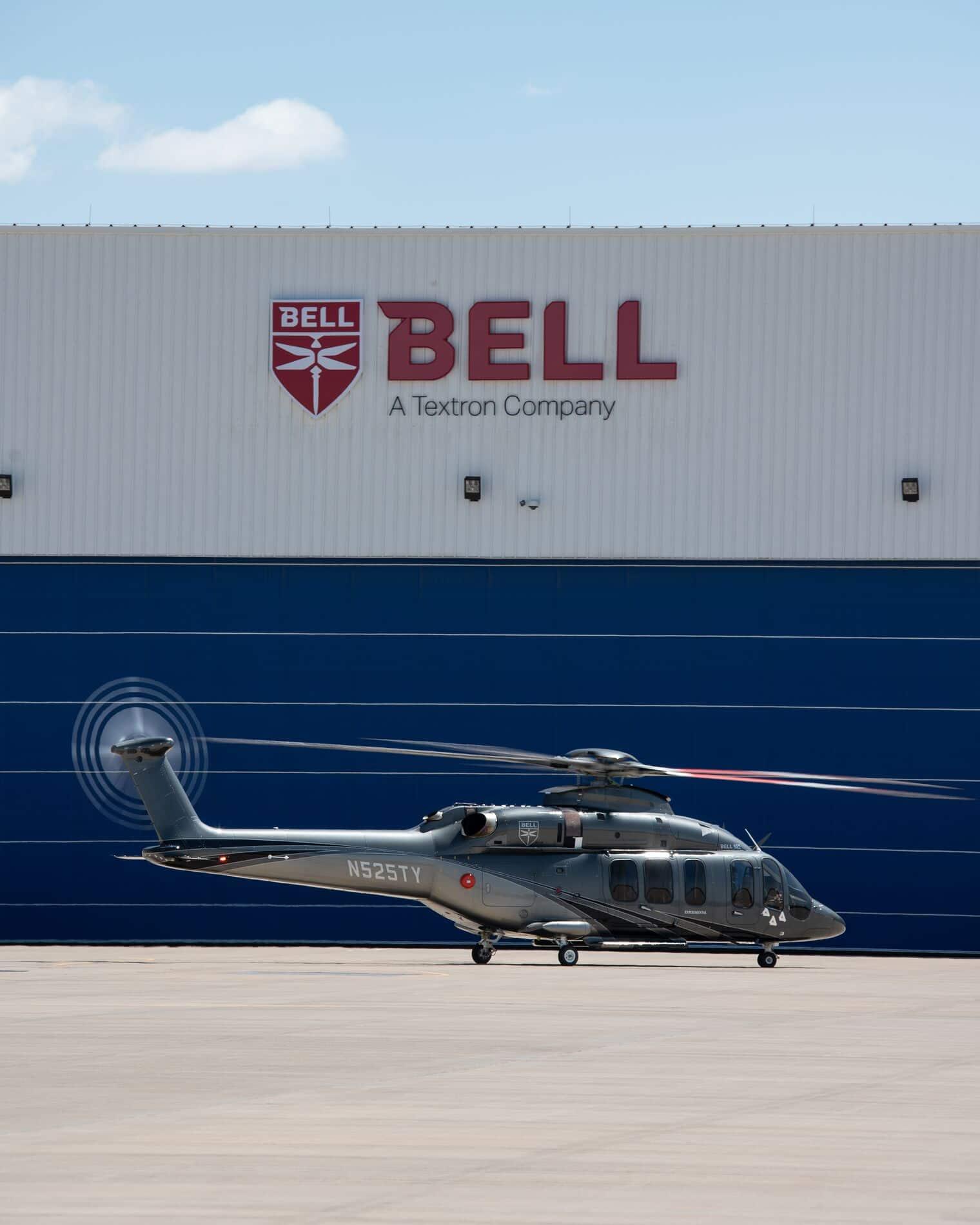 Bell 525 en tierra en Bell
