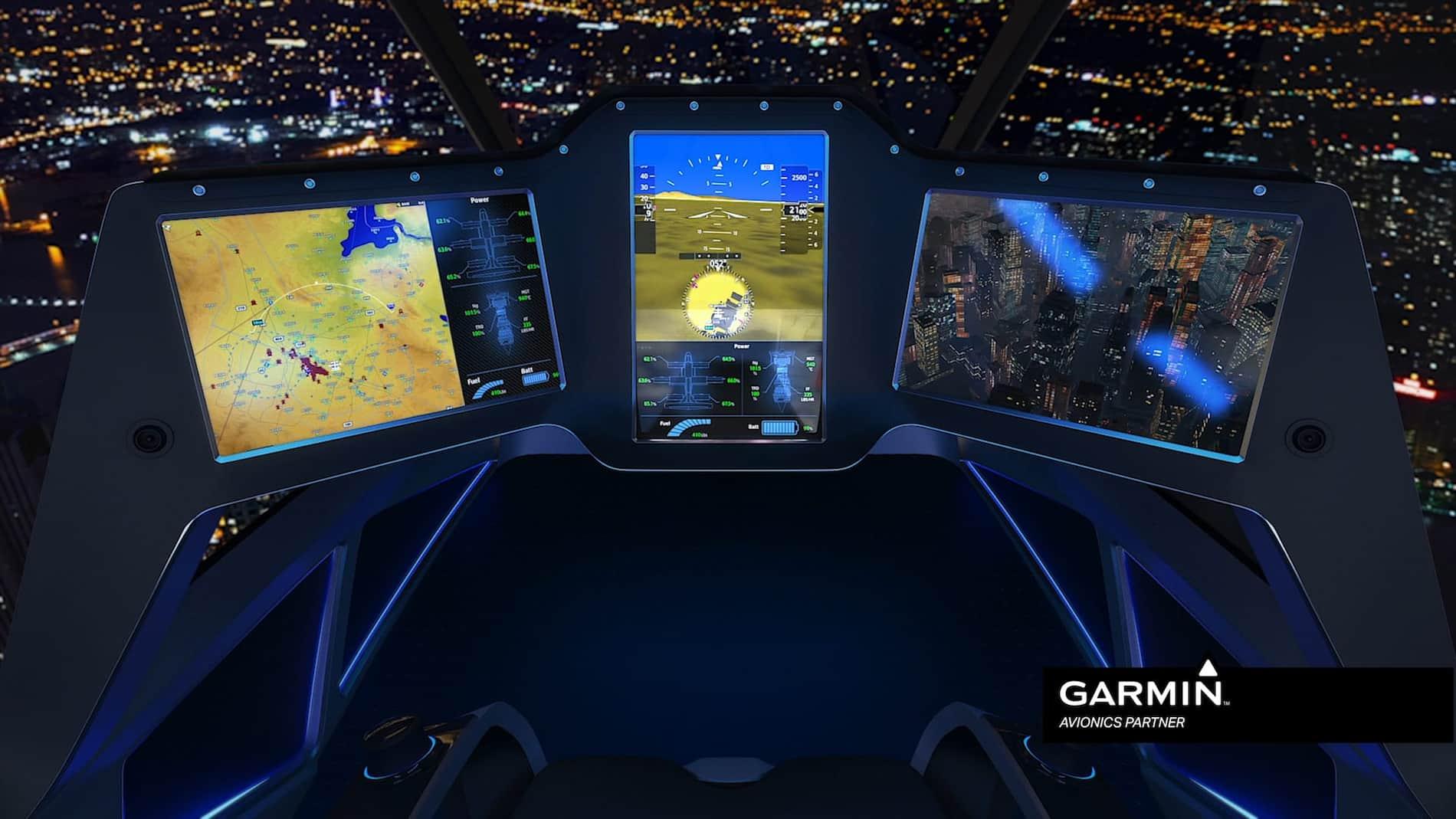 Bell Nexus - Interior Garmin